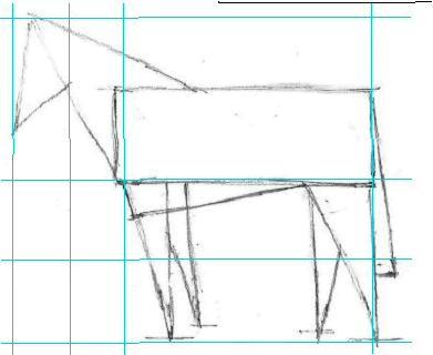 Как рисовать лошадь – Этап первый.
