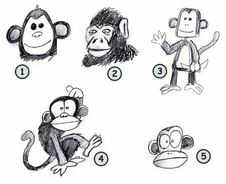 Как научиться рисовать разных обезьян