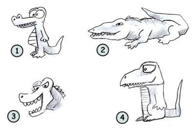 Как научиться рисовать крокодила поэтапно